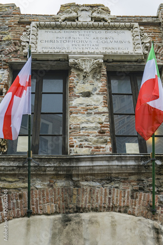 Spoed Foto op Canvas Liguria Christopher Columbus House in Genoa, Italy