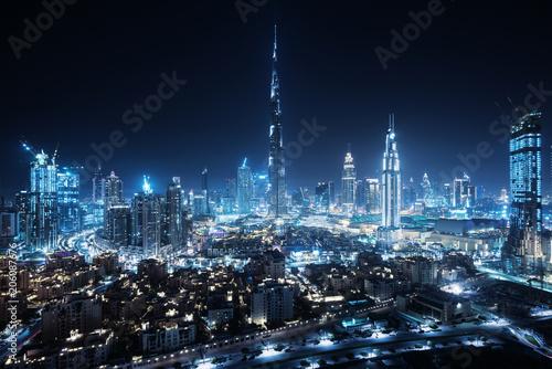 Fototapeta premium Panoramę Dubaju, Zjednoczone Emiraty Arabskie