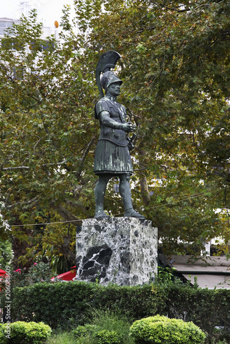 Statue of Themistocles in Piraeus. Greece Canvas-taulu