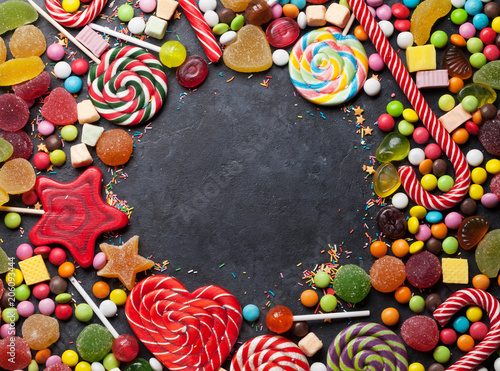 Poster Confiserie Colorful sweets