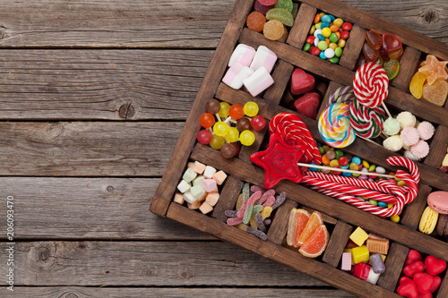 Poster Confiserie Colorful sweets box