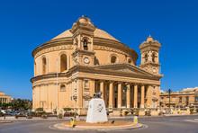 Mosta, Malta. Main Facade Of T...