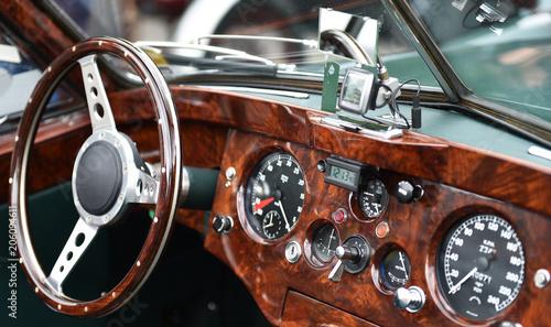 Poster Vintage voitures Auto Lenkrad