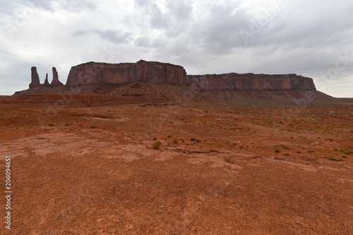 Spoed Foto op Canvas Diepbruine Monument Valley