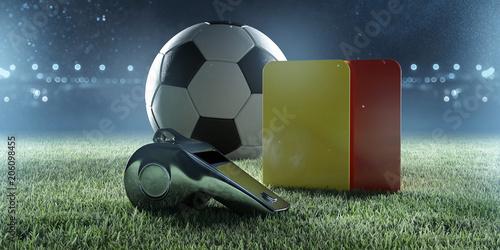 Fußballschiedsrichterausrüstung Canvas Print