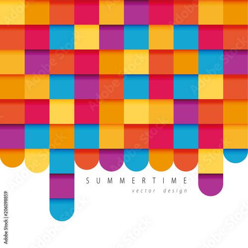 Fotobehang Pop Art Colorful vector design. Geometric illustration. Flat style.