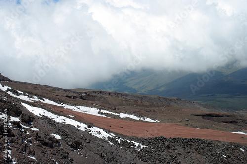 Papiers peints Cappuccino Pente du volcan Cotopaxi