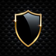 Black Shield With Golden Frame...