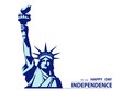 Statue of Liberty. Hand with torch. USA. New York sculpture. National Symbol of America. Illustration, white background. Use presentation of corporate marketing reporting, flyer, logo, flat banner, po