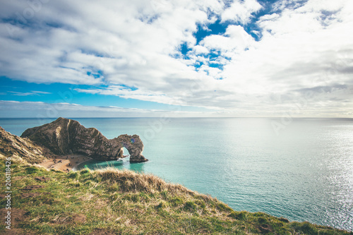 Durdle Door on a sunny day Poster