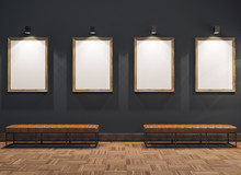 Empty Gallerys In Museum