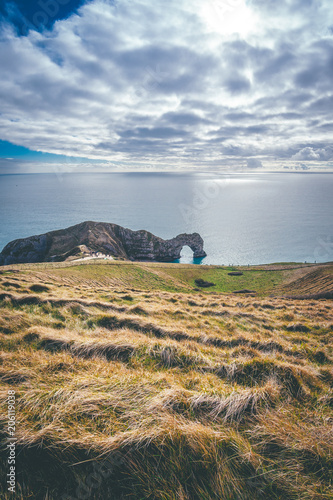Amazing view of Durdle Door in the distance Poster