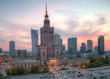 View of the city center. Warsaw, Poland.