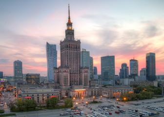 Fototapeta View of the city center. Warsaw, Poland.