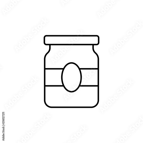 jar of jam icon  Element of food icon for mobile concept and