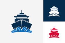 Ship Travel And Wave Logo Temp...