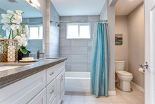 Elegant Warm Color Bathroom Design
