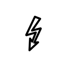 Lightning Icon. Element Of Science Icon For Mobile Concept And Web Apps. Thin Line Lightning Icon Can Be Used For Web And Mobile