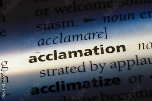 Photo acclamation