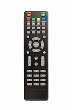 TV Remote Isolated On White Ba...