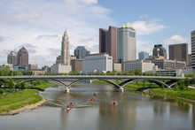 Dragon Boat Racing Though Downtown Columbus