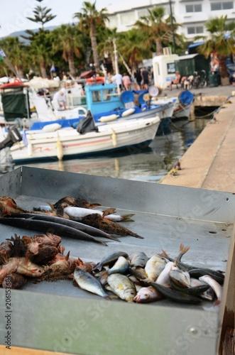 Foto auf AluDibond Schiff Port de Kos (Grèce)