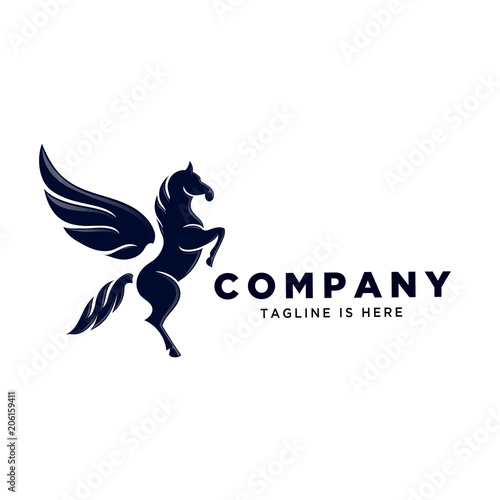 Fotografia stand pegasus logo