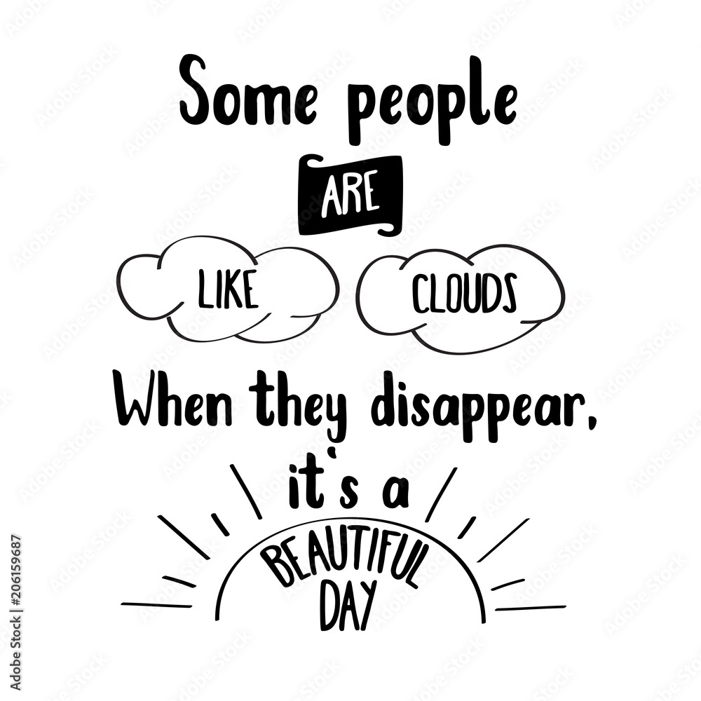 Funny hand drawn quote about people Poster, Plakat | 3+1 GRATIS bei ...