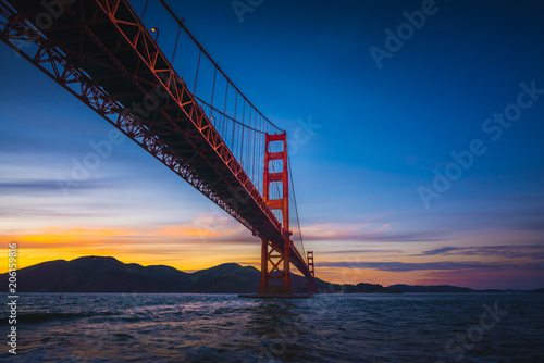 City on the water The Golden Gate Bridge at Sunset