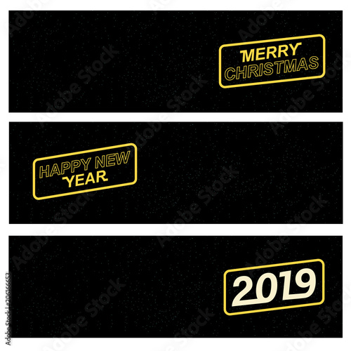 2019 Merry Christmas and Happy New Year for your seasonal leaflets and greeting Wallpaper Mural