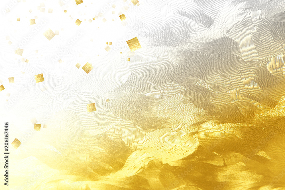 Fototapeta 金色の和紙でレイアウトしたビジュアル
