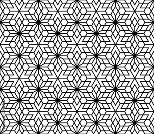 Fotobehang Kunstmatig Seamless traditional Japanese Kumiko ornamen without lattice