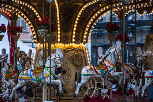 Papiers peints Attraction parc carousel to como