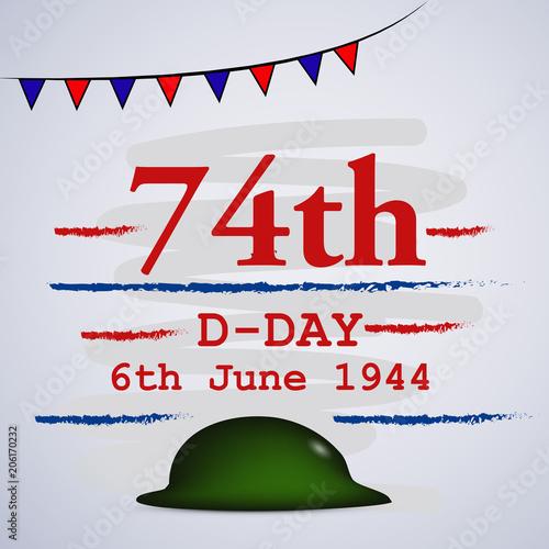Poster  Illustration of U.S.A D-Day background