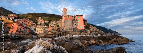 In de dag Liguria Ancient Village of Tellaro at Sunset - Liguria Italy