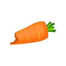 Bright Orange Bitten Carrot. N...