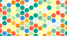Abstract Colorful Hexagons Pattern And Texture Background For Design.vector Illustration Eps 10