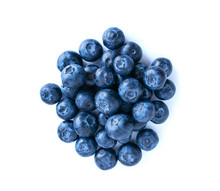 Blueberries Pile Isolated On W...