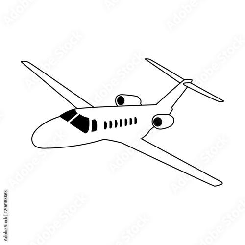 Icono plano avion de negocios en color negro - Buy this stock vector ...