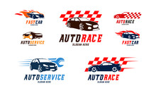 Set Of Racing Car Logo Vector,...