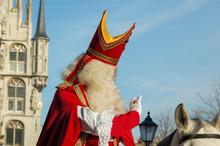 Saint Nicholas Waving On His W...