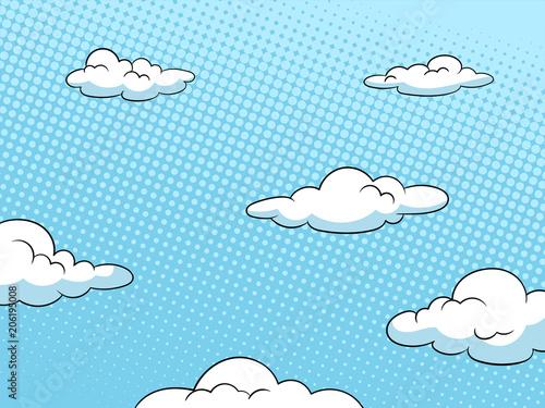 Sky halftone background vector illustration Fototapet