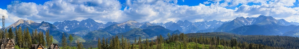 Fototapety, obrazy: Panorama. View of the Tatra Mountains.Poland