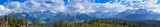 Panorama. View of the Tatra Mountains.Poland