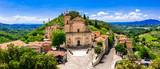 Fototapeta Na ścianę - Traditional medieval villages of Italy - scenic borgo Casperia, Rieti province