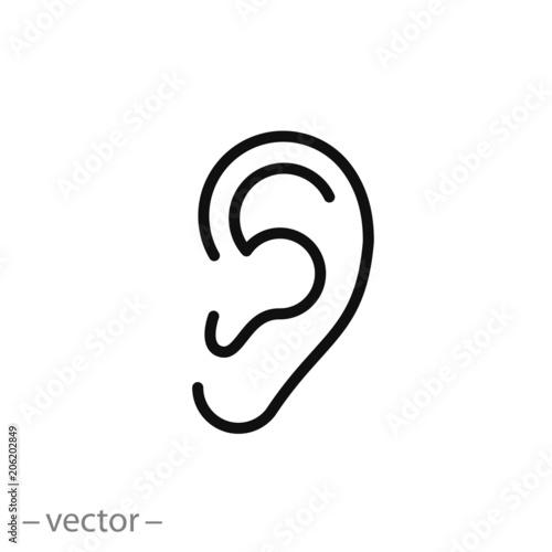 ear icon vector Fotobehang