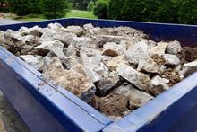 Dumpster Filled With Sidewalk ...