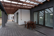 Side View Of An Open Veranda I...