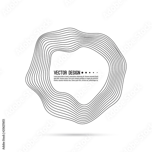Valokuvatapetti Vector of deformed circle banner