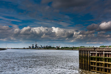 Dramatic Sky Above The Port Of Antwerp